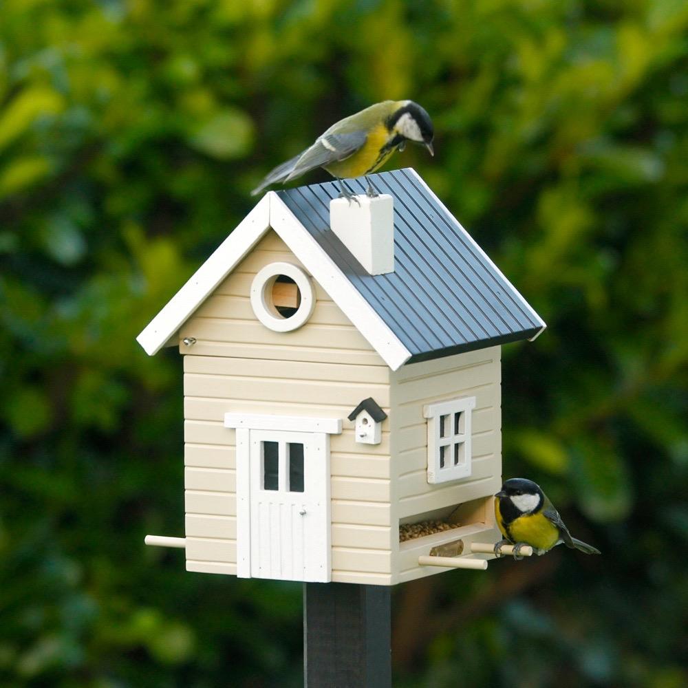 Edelstahl K Chen vogelhaus futterhaus beige vogel und naturschutzprodukte einfach kaufen