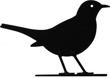 Silhouette Amsel