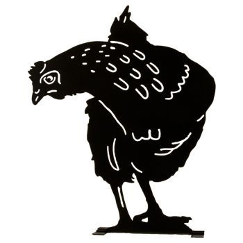 Silhouette Henne Beobachtendes Huhn