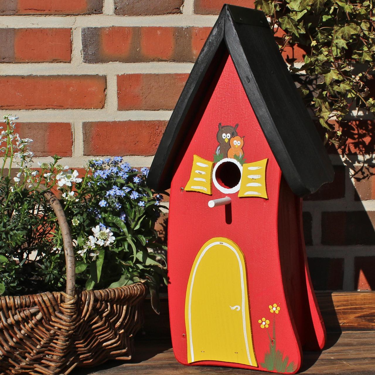 vogelvilla nistkasten klassik rot vogel und naturschutzprodukte einfach online kaufen. Black Bedroom Furniture Sets. Home Design Ideas