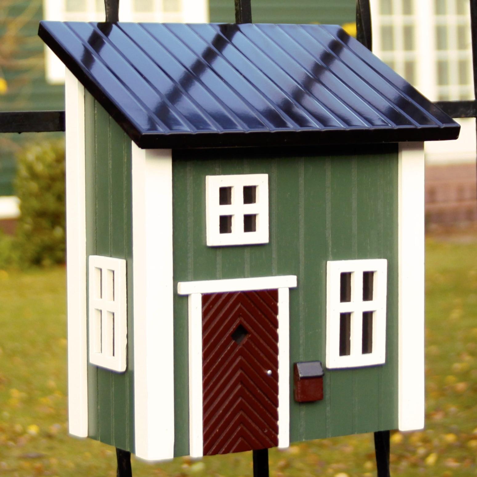 Schwedenstil Postkasten Grun Wildlife Garden Vogel Und